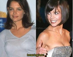 Katie Holmes Plastic Surgery Breast Implants Speculation
