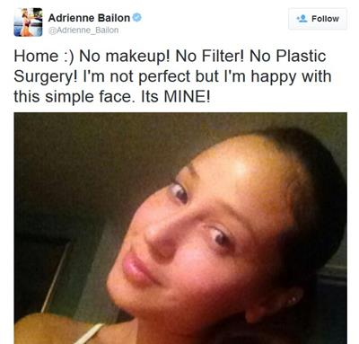 Adrienne Bailon denied plastic surgery