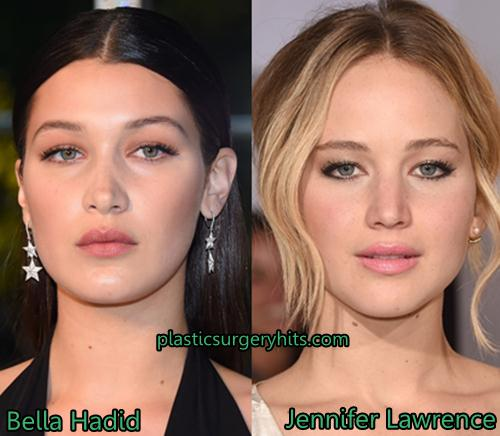 Bela Hadid looks like Jennifer Lawrence